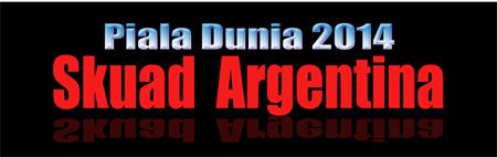 Skuad Argentina di PD Brazil 2014